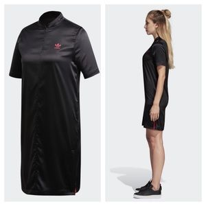 Adidas Black Satin Tee Dress